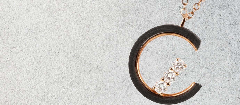 Lab Grown Diamonds Carbon Necklace